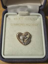 10k gold with diamond accent heart pendant nwvpgc1171 precious metal without stones