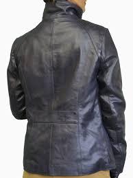 las navy luxury leather jacket