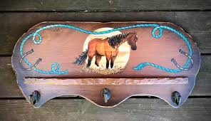 Cowboy Coat Rack western decor rustic coat rack tack bridle display cowboy decor 92
