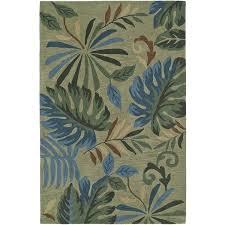 rugs green multi plush tropical area rug 8x10 furniture used