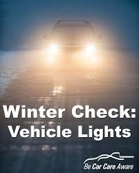 winter check vehicle lights