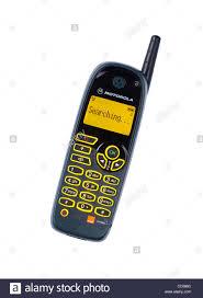 motorola phone models. old motorola mobile phone from around year 2000 - stock image models