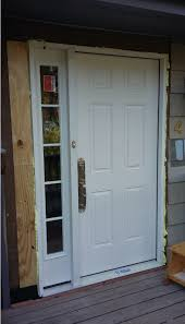 new entry door trim using old corbels