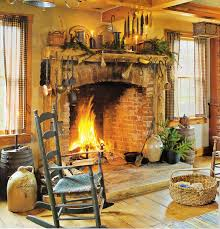 prim old fireplace crocks love this whole room