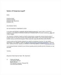 Temporary Layoff Employment Notice Template End Of Letter