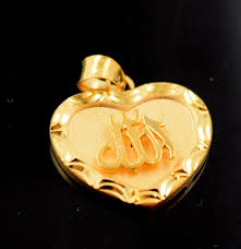 22k jewelry solid gold muslim pendant quran locket p491