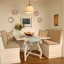 White Breakfast Nook Kitchen Room Built In Kitchen Table Ideas Kitchen Traditional