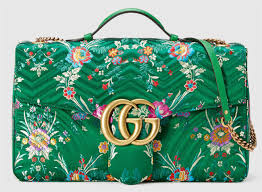 gucci bags 2017 prices. gucci gg marmont green maxi floral jacquard shoulder bag $ 3,100 bags 2017 prices
