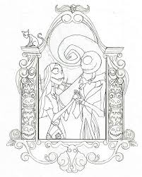Nightmare Before Christmas Coloring Pages For Kids With The