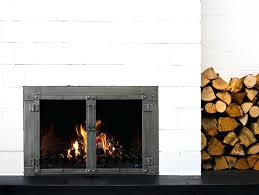 door for open fireplace more efficient burning glass doors actually help your fire outdoor open fireplace