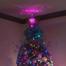 Bethlehem lighting christmas trees Flocked Gkibethlehem Led Color Changing Tree Topper Christmas Lights Etc Christmas Decorations Gkibethlehem Led Color Changing Tree Topper