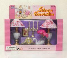 barbie size doll lamp interior decoration play set gloria httpwww amazoncom barbie size dollhouse