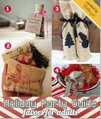 Holiday favors for adults during Christmas
