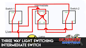 What Does A Three Way Light Switch Look Like Three Way Light Switching Intermediate Switch