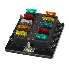 popular car fuse box buy cheap car fuse box lots from car car fuse box 10 way blade fuse box holder led warning light kit for car