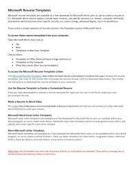 Are There Resume Templates In Microsoft Word 2010 Tomyumtumweb Com