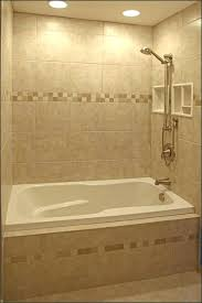 jacuzzi tub shower combo bathtub with small bathroom alcove and limestone wall remodel bath