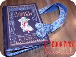 diy repurposed book purse tutorial