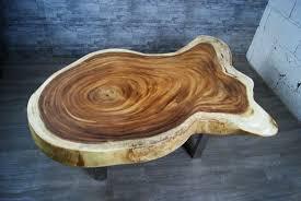 Wohnzimmer Tisch Massiv Suarholz Couchtisch Auf Edelstahl Beine