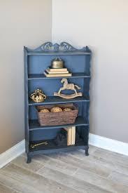 Chalk Painted Annie Sloan Graphite Vintage Bookcase | Four Shelf Painted  Bookcase | Children's Room Bookcase