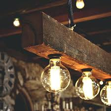 diy light chandelier reclaimed wood beams best wood lamps restaurant bar chandeliers diy rope light chandelier