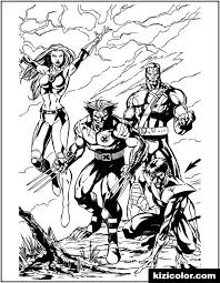 In the comics and other adaptations, rogue's hair color is either red or auburn with some white streaks. X Men Wolverine And Team Kizi Free 2021 Printable Super Coloring Pages For Children X Men Super Coloring Pages