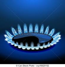 gas stove flame. Flames Of Gas Stove In The Dark. Vector Flame