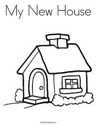 Small Picture My New House Coloring Page Twisty Noodle