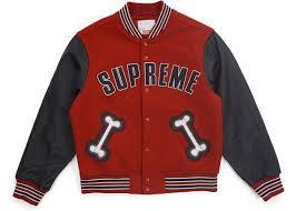 supreme bone varsity jacket