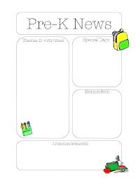 Preschool Letter Template Automotoread Info