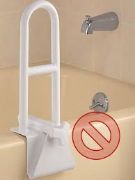 tub clamp mount grab bar