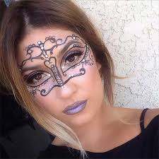 easy masquerade makeup mask for