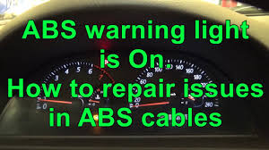 Toyota Previa Dashboard Warning Lights How To Reset Abs Warning Light Abs Warning Light Is On Issue In Cables
