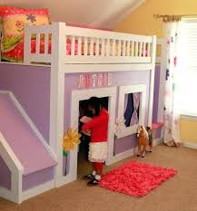 bunk bed with slide and tent. Bed With Slide And Tent Kids Bunk At Home Interior Design Ideas .