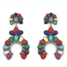 quick view earring 743e 12 tipi fl dangle stone arc multicolor