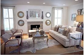 as you can see the cowhide rugs were layered in other rugs such as flokati and