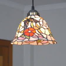 8 inch tiffany stained glass hanging lamp erfly shade chandelier light pl735