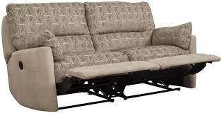 fabric recliner sofa. Buoyant Metro 3 Seater Fabric Recliner Sofa N
