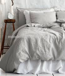 stone washed linen bedding.  Stone Nature French Flax Linen Stone Washed Bedding Set For Stone Washed Linen Bedding