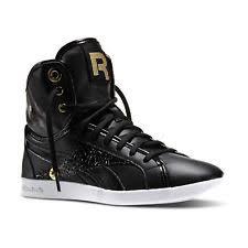 reebok high tops classic. reebok women\u0027s top down snaps classic hi fashion trainers - black \u0026 gold high tops