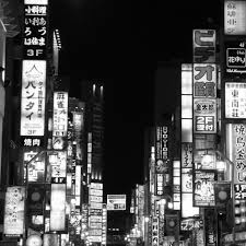 City Lights Wallpaper Black And White Tokyo City Lights Tap To See More Black White City