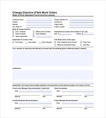 Printable Work Order Forms 6 Sample Construction Work Order Forms Pdf
