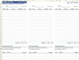 Online Food Log Day Planners Online Free Food Diary Template Maker Word