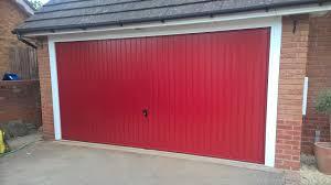 conversion from two single doors to one double garage door