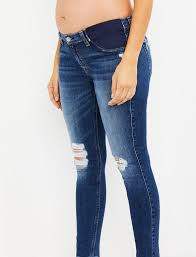 7 For All Mankind Side Panel Ankle Skinny Maternity Jeans