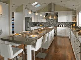kitchens with islands. Beautiful Kitchens 20 Beautiful Kitchen Islands With Seating  Bee Ridge Ranch Pinterest  Long Kitchen Kitchens And Gray Throughout