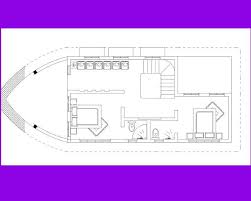 architecture floor plan of ship shaped