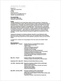 Resume For Fashion Designer Ataumberglauf Verbandcom