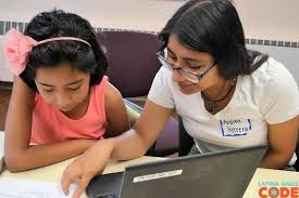 Latina teens examine the