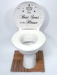 The Best Seat In The House Quote Toilet Bathroom Stickers, Funny Toilet  Decals: Amazon.co.uk: DIY & Tools